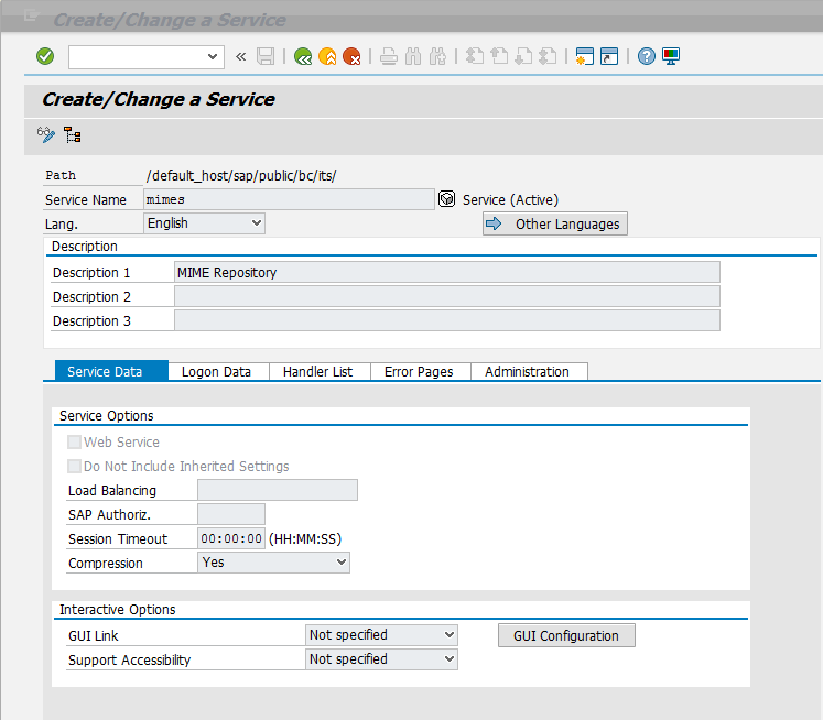 Services for the SAP GUI for HTML